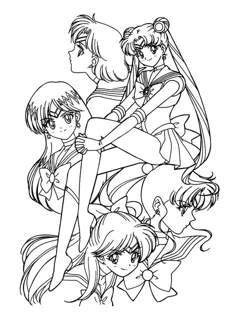 color pages sailor moon coloring pages