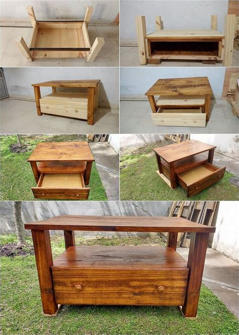 How To Build A Pallet Coffee Table How To Make Pallet Coffee Table With Drawer Step By Step Recycled Things