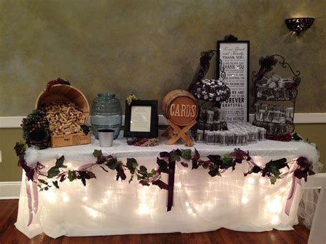 Geschenketisch Hochzeit Deko by Wine Theme Wedding Gift Table Wedding Decor