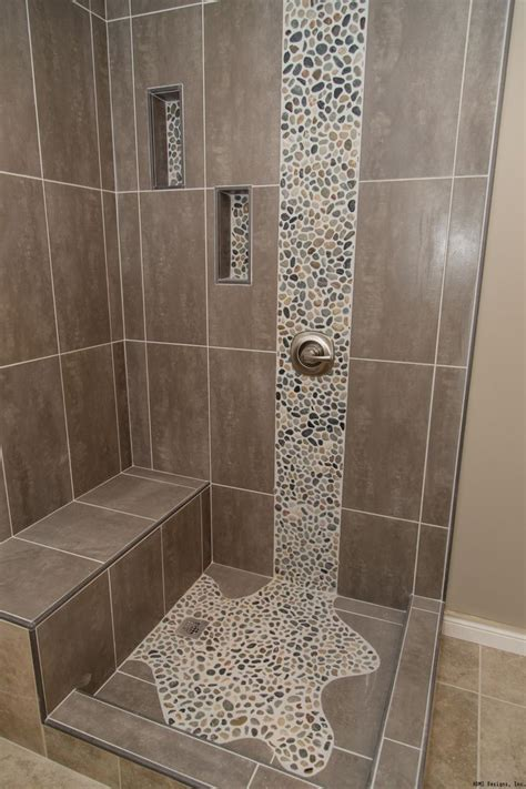 pebble waterfall tile bathroom remodeling bathroom