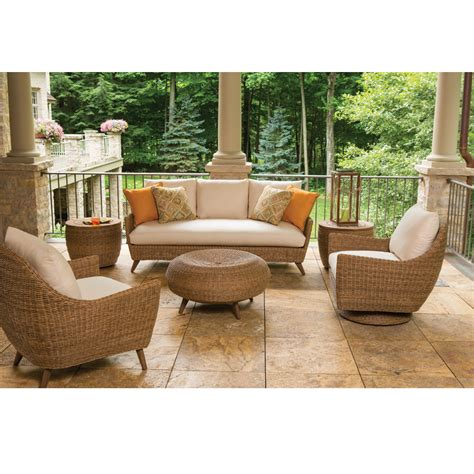 vinyl wicker patio furniture lloyd flanders tobago vinyl wicker patio living room set