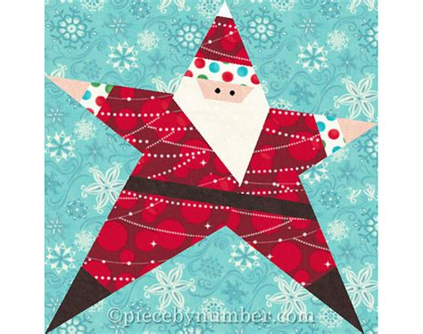 christmas pattern block designs santa star block paper piecing quilt pattern instant