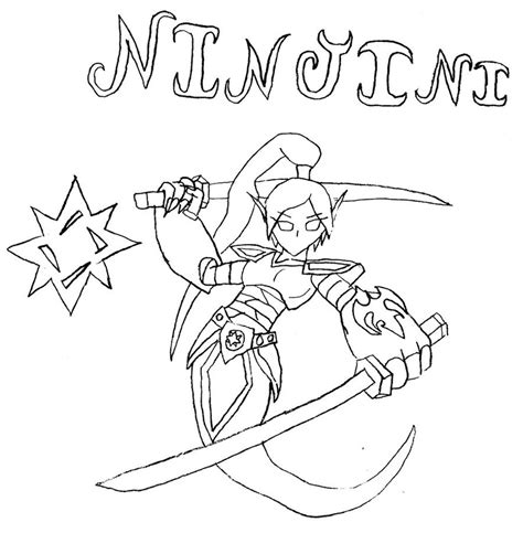 ninjini free coloring pages