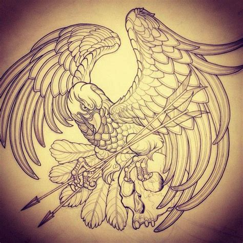 tattoo eagle drawing pinterest the world s catalog of ideas