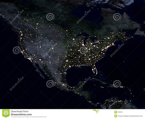 nighttime map of us earth map america stock images image 34534