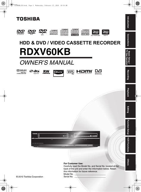 toshiba rdxv users manual