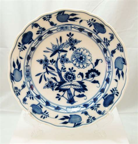 Blue Onion Pattern Dishes | meissen blue onion pattern dishes c 1900