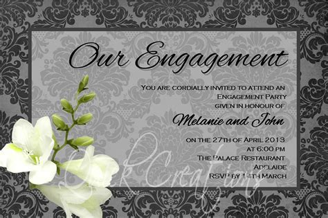 Engagement Invitation by Engagement Invitations Engagement Invitations With Black