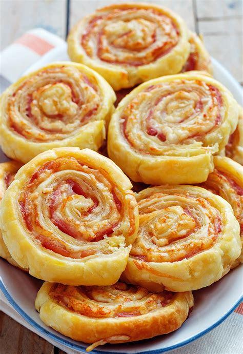 Puff Cheese bacon puff pinwheels recipe eatwell101