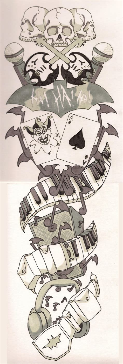 music tattoo designs sleeve batman sleeve by therealpeterparker on deviantart