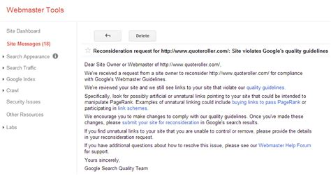 Request Letter For Team Building Sle How To Fix Your Website When You Ve Violated S Quality Guidelines