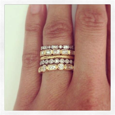 Interesting .always loved stack o' rings but gold and
