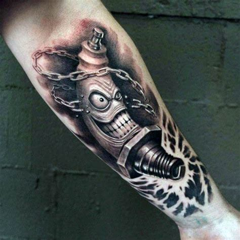 70 spark plug tattoo designs for men cool combustion ink