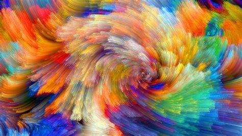 wallpaper vibrant colorful bloom fractals textures