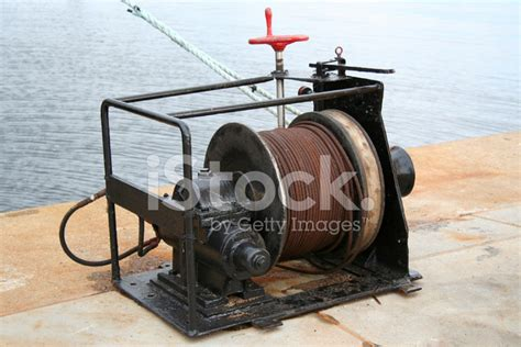 fishing boat net winch fishing nets winch stock photos freeimages
