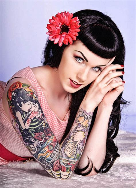tattoo girl rockabilly ink modification pin up tattoo tattoos image 443049