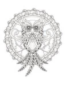 owl coloring pages for adults 23 free printable insect animal coloring pages