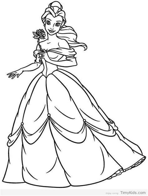hard coloring pages princess belle princess coloring pages timykids
