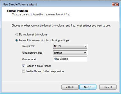 format from cd drive thin virtual provisioning and windows 2008 formatting