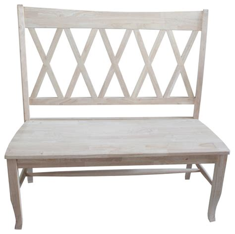 farmhouse bench with back double x back bench farmhouse accent and storage