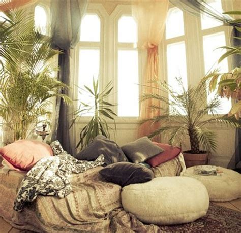 chill out in a living room decked in cool spectrum shades straight from the runway 36 stunning bohemian homes you d love to chill out in