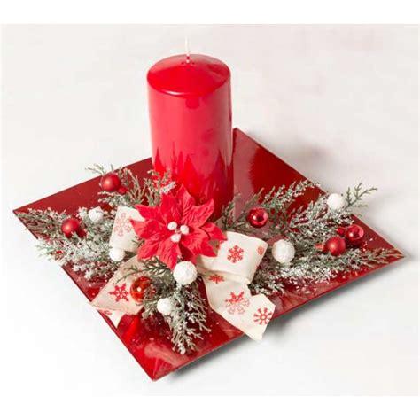 centrotavola natalizio con candela centrotavola natalizio rosso con candela xs1009 d ad