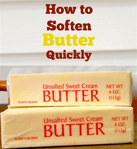 how to quickly soften butter the happy cooking