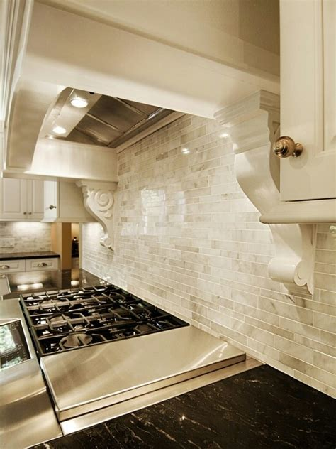 beautiful neutral backsplash kitchens pinterest