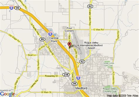map central point oregon map of candlewood suites medford central point