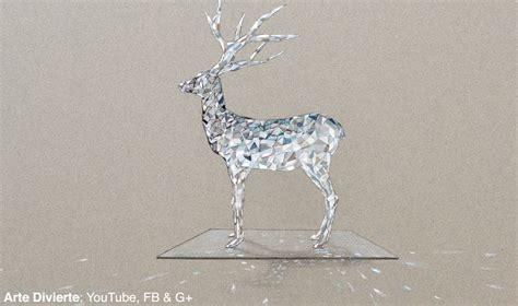 Gl Swarovzki Bola c 243 mo dibujar un venado o ciervo de cristal
