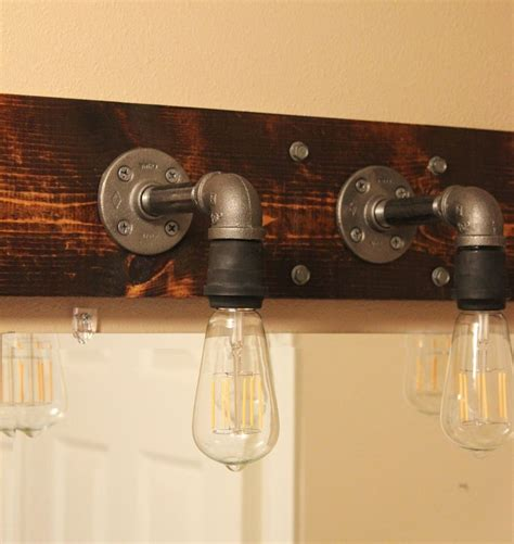 diy bathroom lighting diy industrial bathroom light fixtures
