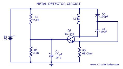 metal detector circuit diagram simple metal detector circuit pdf images