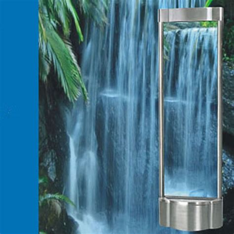 water curtain fountain indoor stainless steel water curtain fountain falls jpg