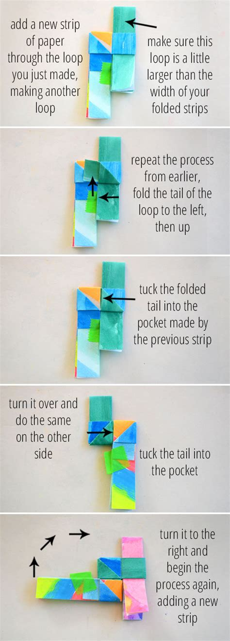 How To Make A Paper Home - how to make folded paper bracelets picklebums