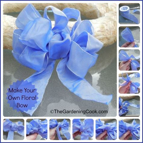 how to make a floral bow the gardening cook