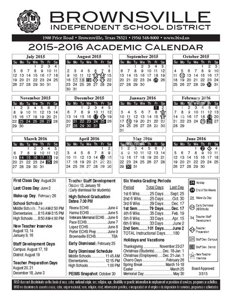 Capital Academic Calendar Bisd School Calendar Calendar 2017 Printable