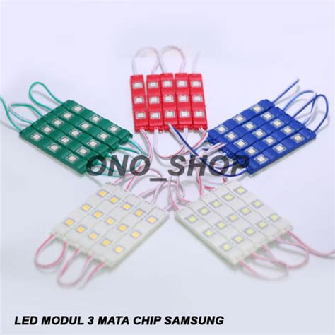 jual led modul 3 mata chip samsung ono shop