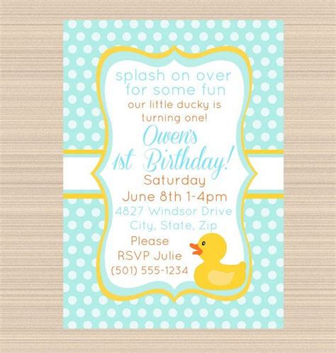 invitation rubber st free printable rubber ducky 1st birthday invitations