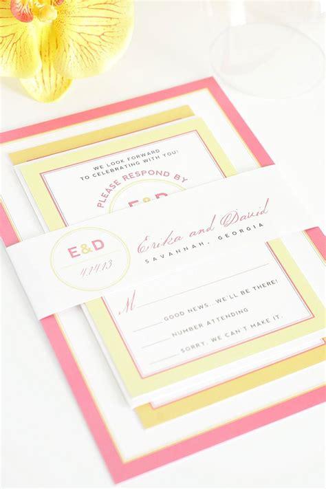 pink wedding invitations pink and orange wedding invitations with yellow accents wedding invitations