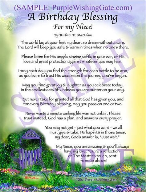 A Birthday Blessing for my Niece   Beautiful words