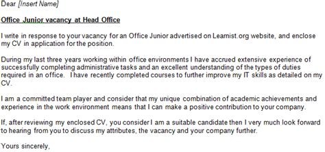application letter for any vacant position without experience position any letter for cover vacant