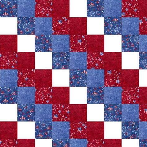 Basic Patchwork Quilt Pattern - americana patchwork beginner quilt kit per cut quilting