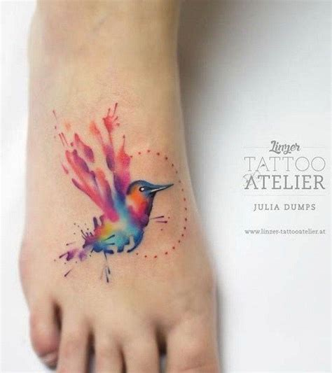 watercolor tattoo was ist das best 25 watercolor foot ideas on
