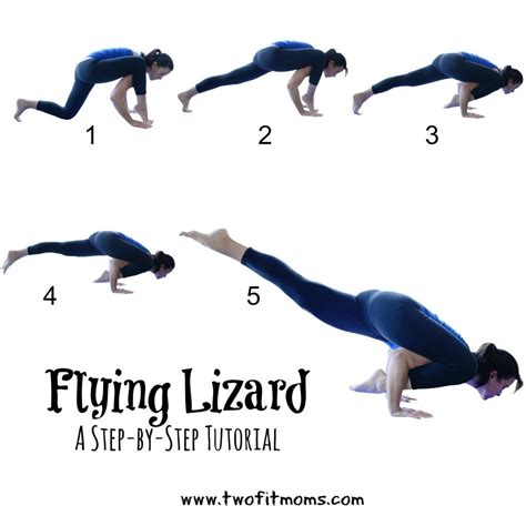 Yoga Arm Balance Tutorial | two fit moms tutorial on flying lizard pose perfect for