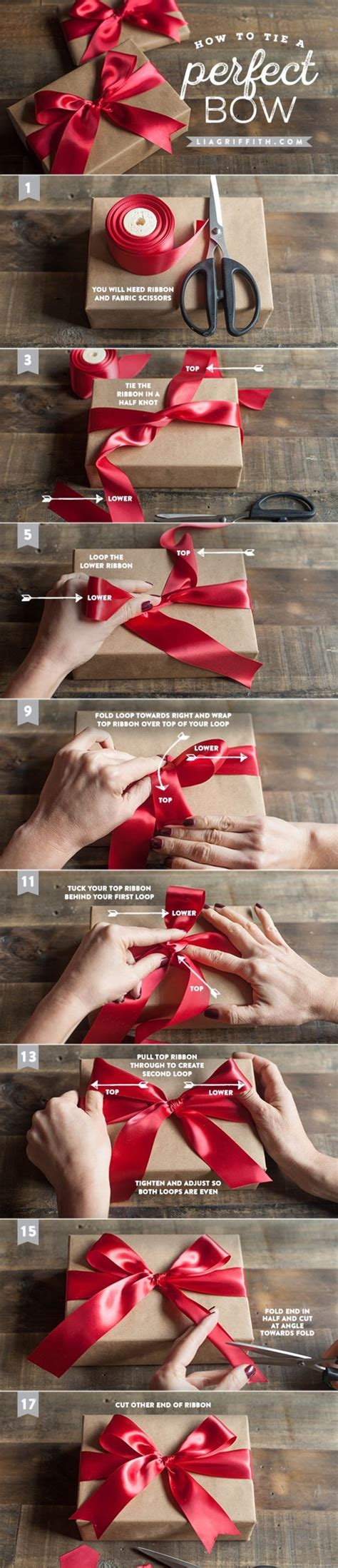 how to make the perfect christmas bow how to tie the bow
