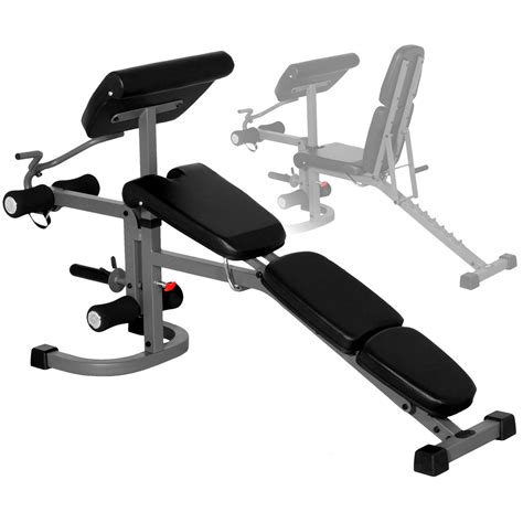 weight bench with arm curl xmark fitness flat incline decline bench with arm curl