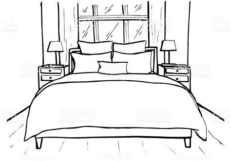 sketch bedroom drawn bedroom cartoon pencil and in color drawn bedroom