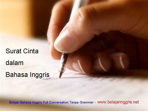 surat cinta dalam bahasa inggris dan artinya