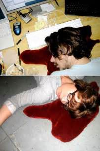 blood puddle pillows look like you re dead geekologie