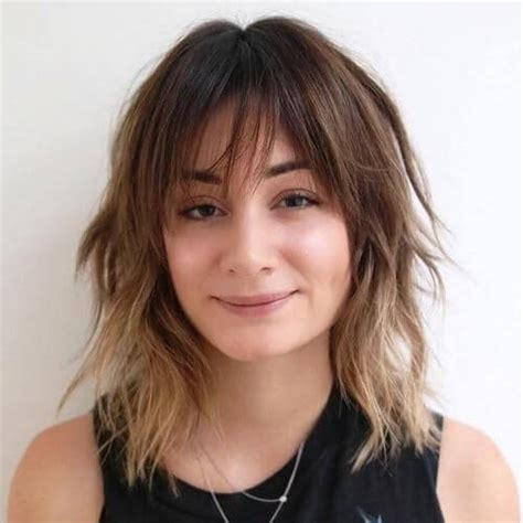 shaggy hair styles with bangs with medium hair 40 50 medium haircuts with bangs to bring movement and